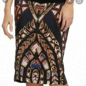 Silk beaded L skirt by Reynu Taandon